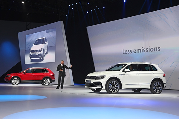 I think they call this an open goal. VW launches the 2016 Tiguan at Frankfurt IAA. Image via VW.AG