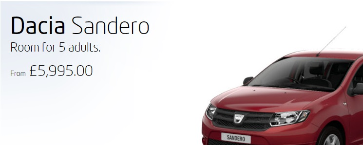 2015 Dacia Sandero or part thereof. You don´t want to see the whole thing, do you?: Dacia UK