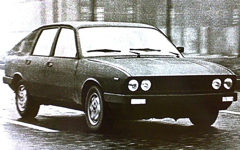 An undisguised Gamma prototype. Image via lanciagamma.altervista1