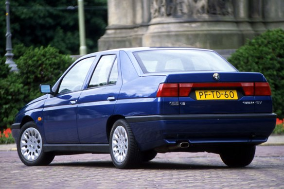 1992-1998 Alfa Romeo 155. Mediocre as this might have been, they were relatively happy times: motorstown.com