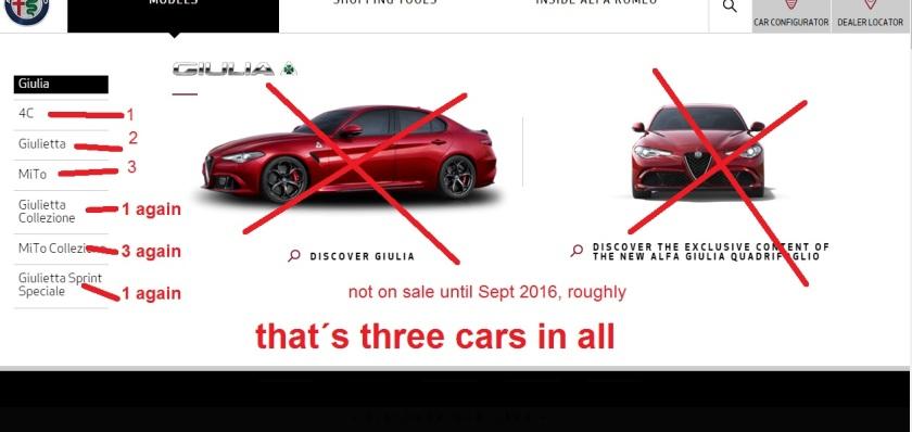 Three cars made to look like seven: Alfa Romeo UK