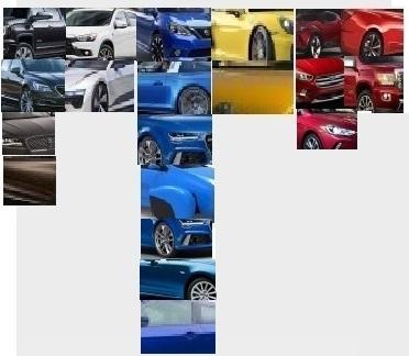 2015 LA Auto show colour palette 1