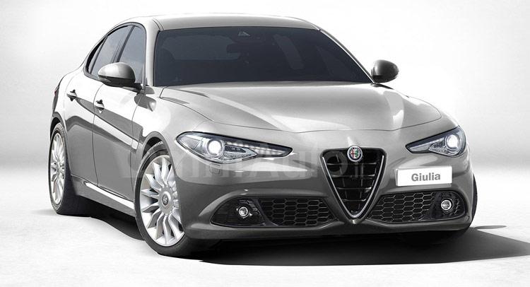 A digital render of the standard Giulia model. Image via carscoops
