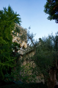 The villa (part of it, anyway) on Isola del Garda.