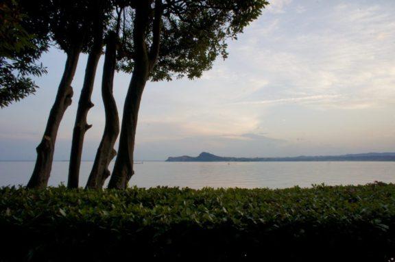 Lake Garda, looking south from Isola del Garda.
