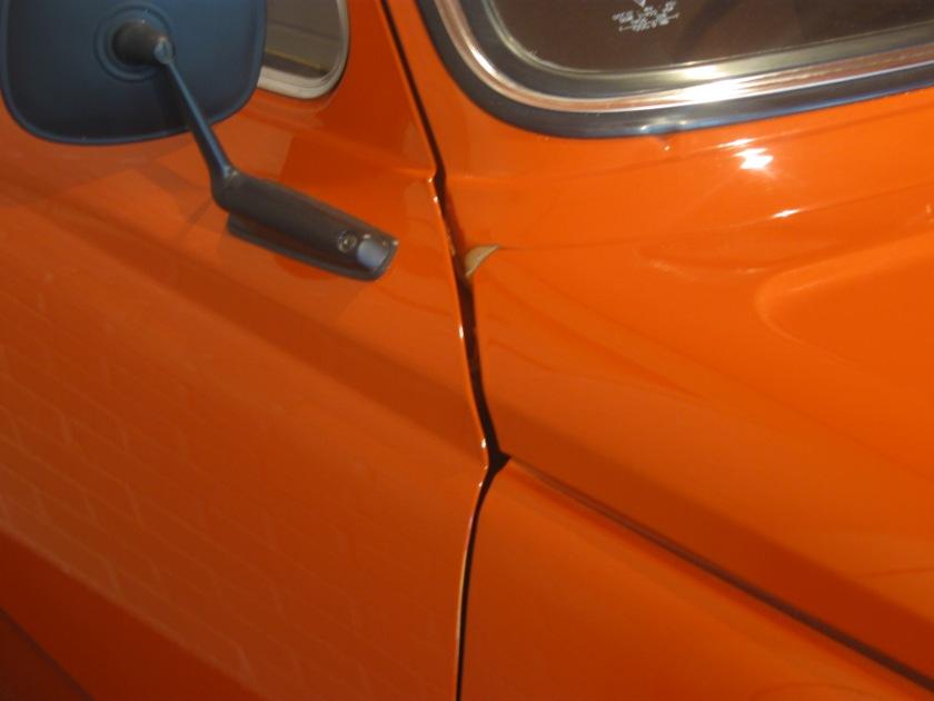 Volvo 66 door shut-line: approximate.