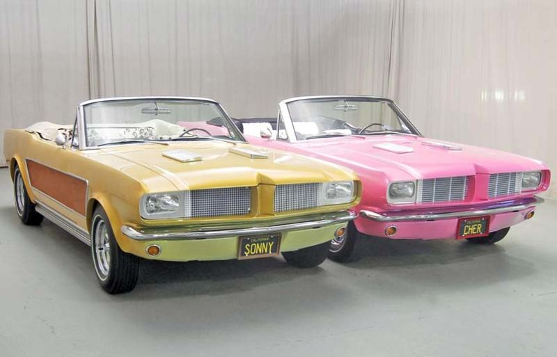 Aaah. True Love. Probably not a high point. Sonny & Cher's Matching Mustangs. Photo - Jalopnik