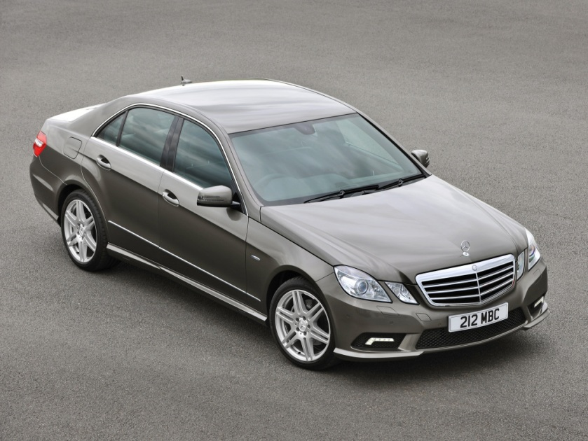 Just for reference, W212 from the air. Image via mercedesblog