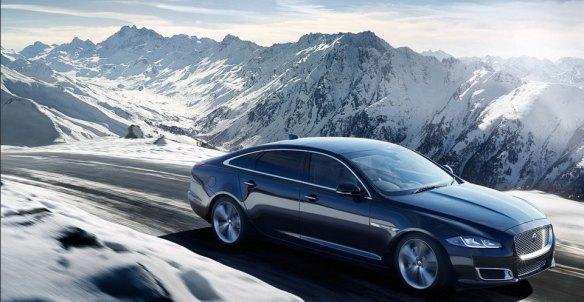 2015 Jaguar XJ frolicking in the snows of Warwickshire: jaguar.co.uk
