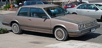 1984 Chevrole Celebrity two-door coupe: wikipedia.org