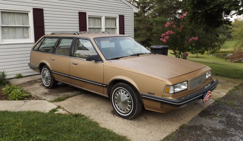 1987 Chevrolet Celebrity wagon gold