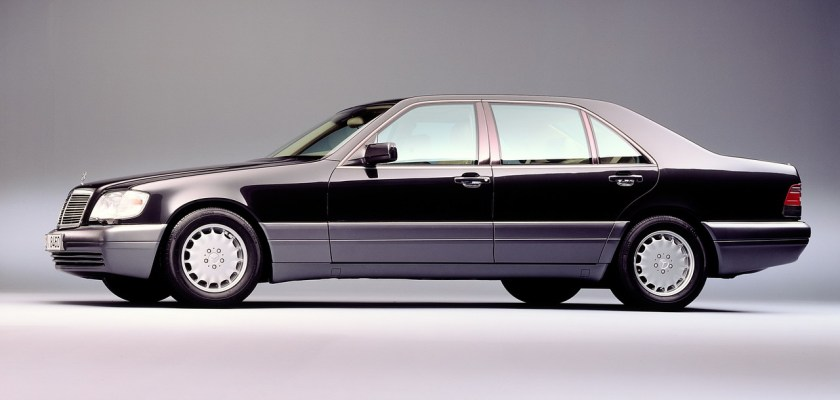 1991 Mercedes S-class: austere, robust and big.