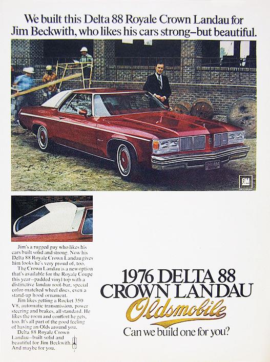 1976 Oldsombolile Delta 88 Royal Crown Landau: curbsideclassics.com