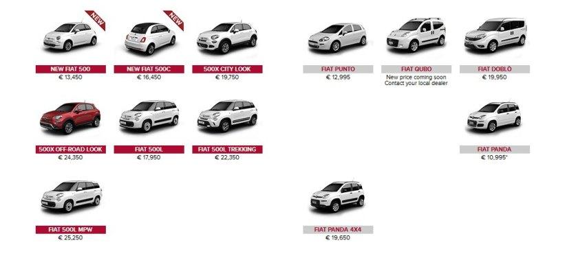 2016 Fiat Ireland model range: fiat.ie