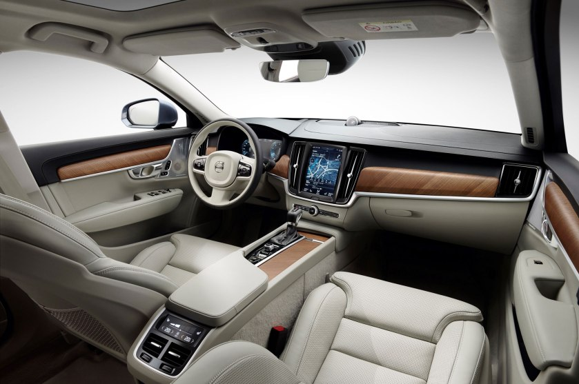 Volvo S90 interior. Image: motortrend