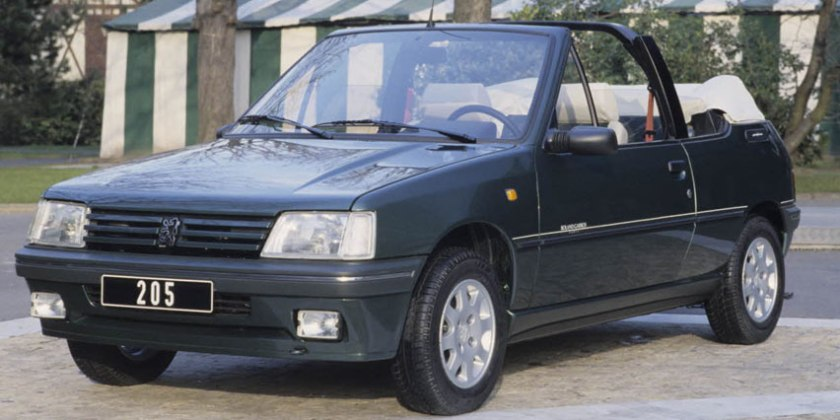 1989 Peugeot 205 Roland Garros. Image:Peugeot