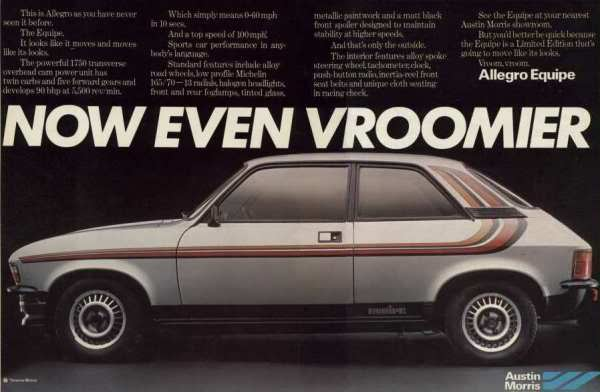 The public know nothing. Allegro Equipe. Image:Pistonheads