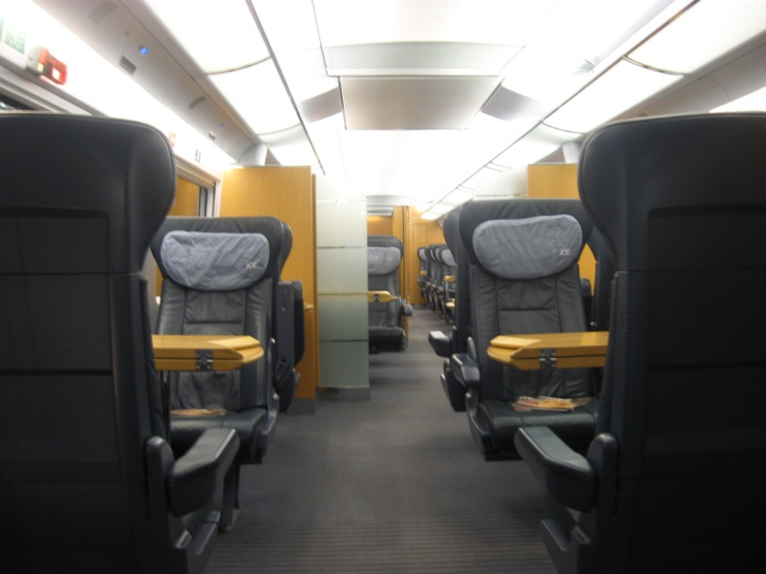 First class in the ICE train interior.