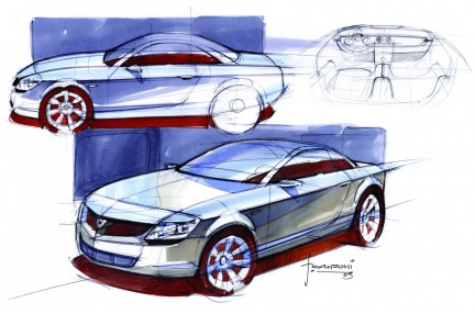 A Flavio Mazoni render from 2003. Image:eurocarblog