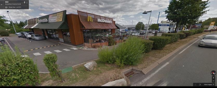 Sochaux McDonalds image via Google