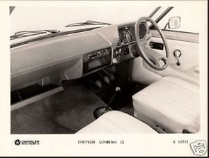 1977 Chrysler Sunbeam interior: source