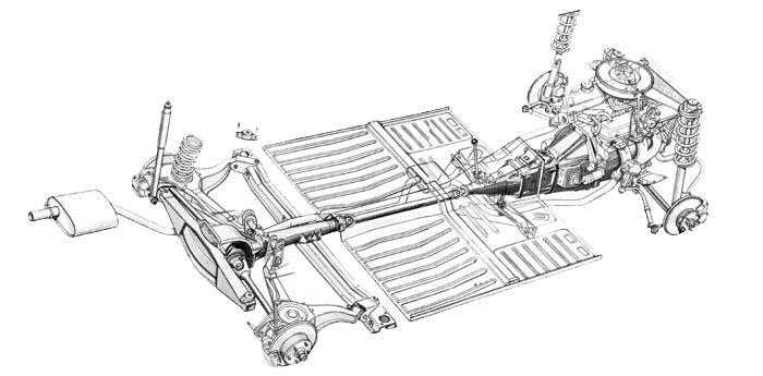 ford independent rear suspension design