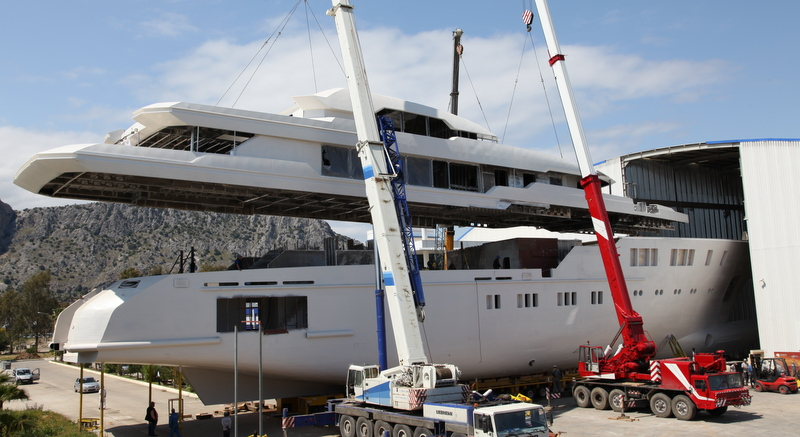 Not quite a production line. Under construction at Sunrise Yachts - image : charterworld.com