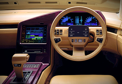 1985 Nissan CUE-X interior: source