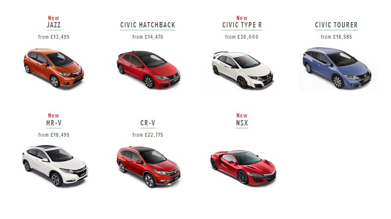 2016 Honda UK line-up: Honda UK