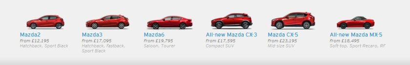 2016 Mazda UK range of cars: Mazda UK