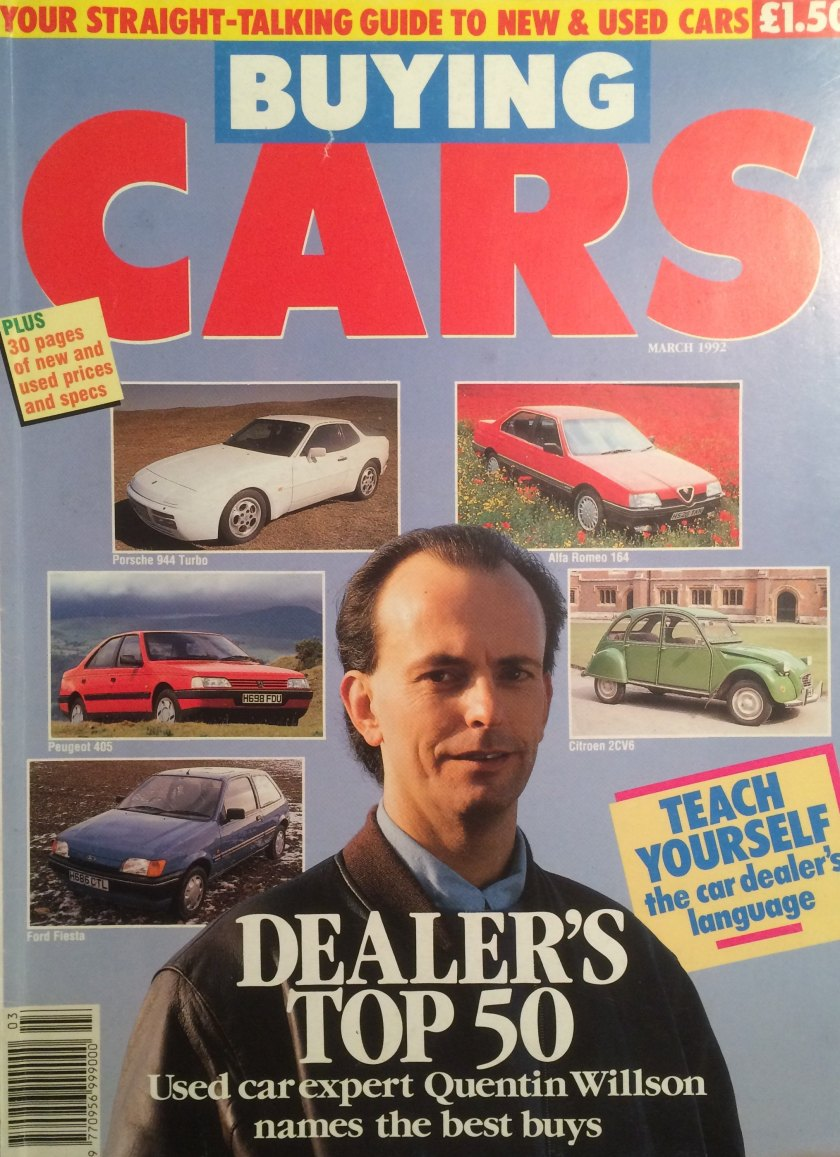 1992 Buying Cars magazine cover