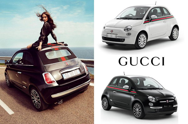 special editions 2011 fiat 500 by gucci driven to write. Black Bedroom Furniture Sets. Home Design Ideas