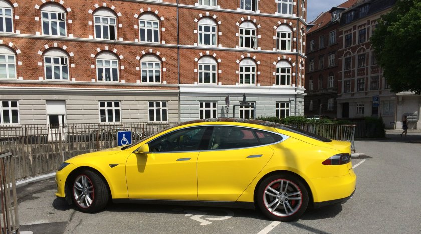 2016 Tesla Model T in Denmark recently.