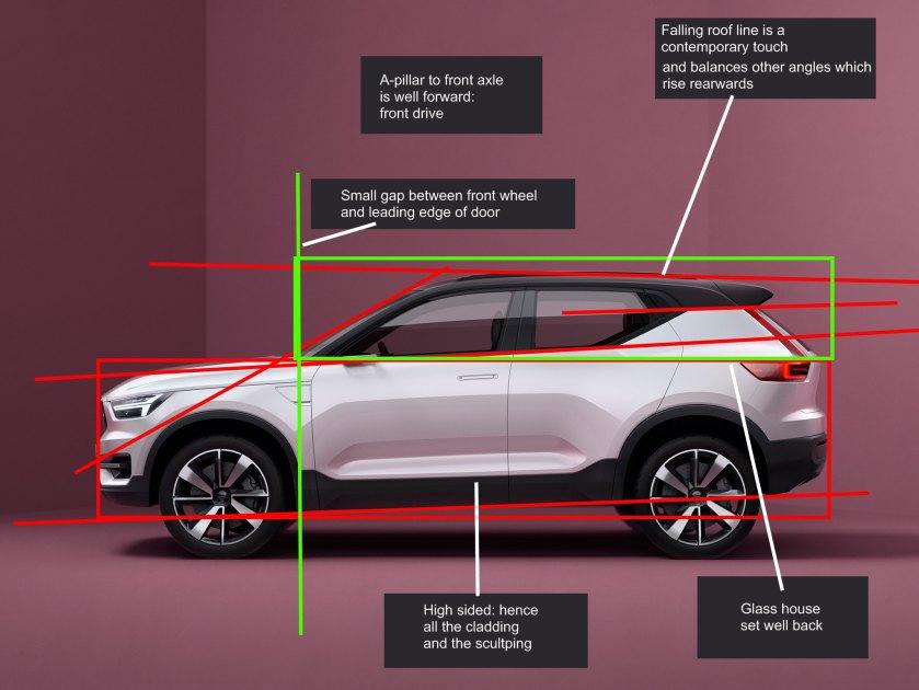 2016 Volvo V40 concept car profile lines