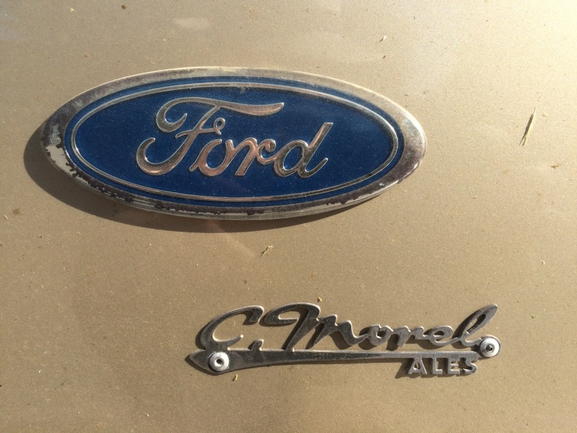 C. Morel dealer badge on a Ford Cortina 2.3 Ghia
