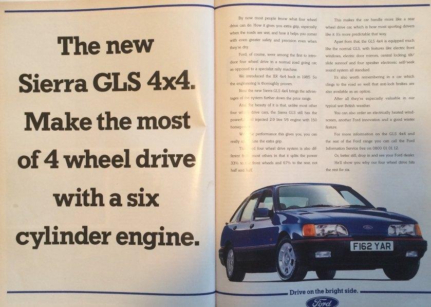 1989 Ford Sierra GLS 4x4: Autocar