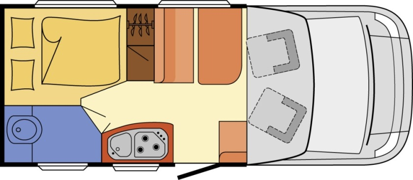 A typical motorhome layout