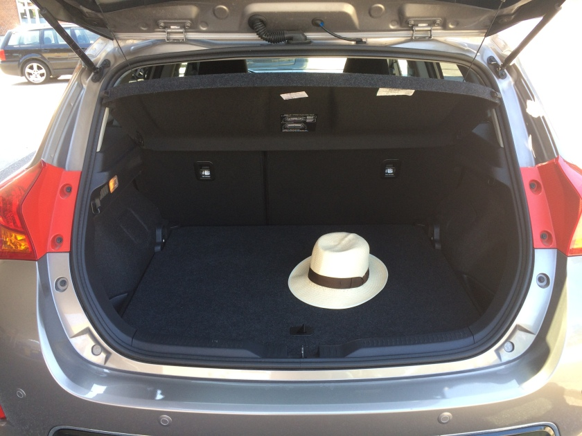 Toyota Auris boot. Smaller than ideal.