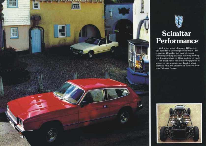 Reliant moves upmarket. Brochure for SE6 GTE and convertible.