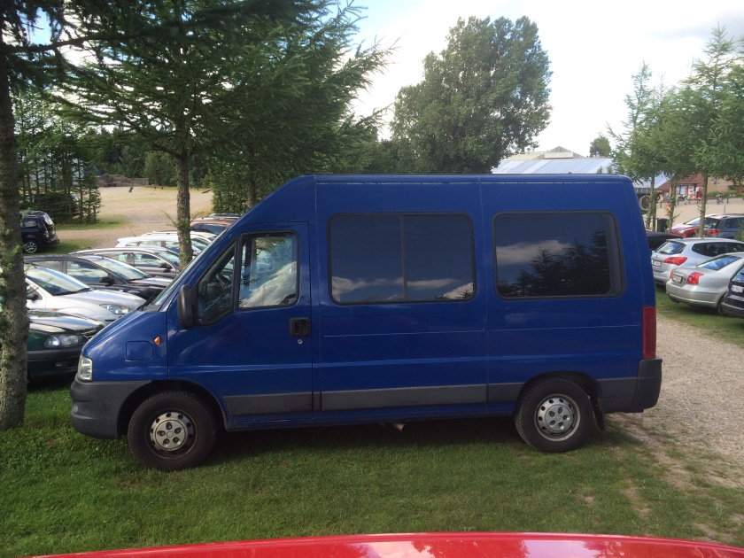 Ford Transit: it wasn't this blue but darker.