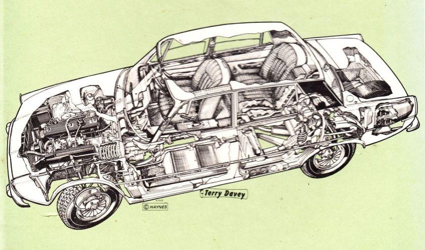 P6 Cutaway by Terry Davey - image : p6club.com