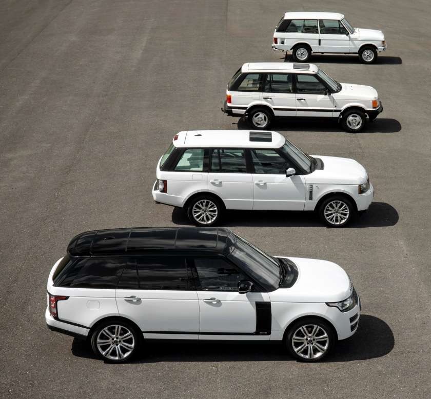 Four generations of Rangie. Image: carscoops