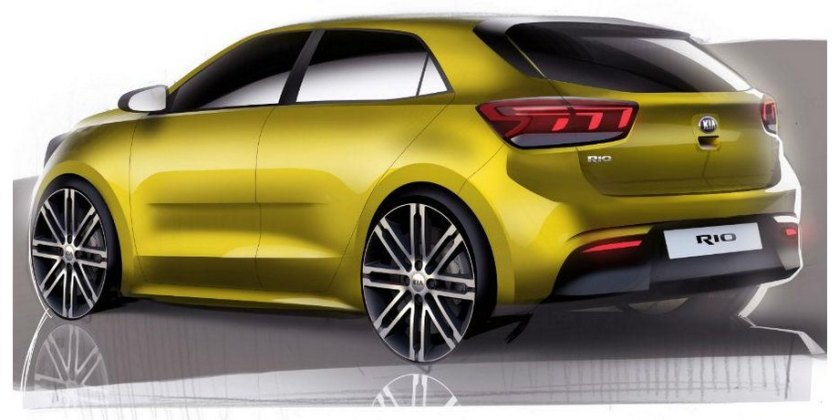 2017 Kia Rio theme drawing: source