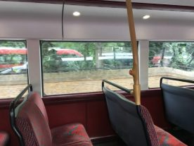 Even less to see from inside seats - View from New Routemaster