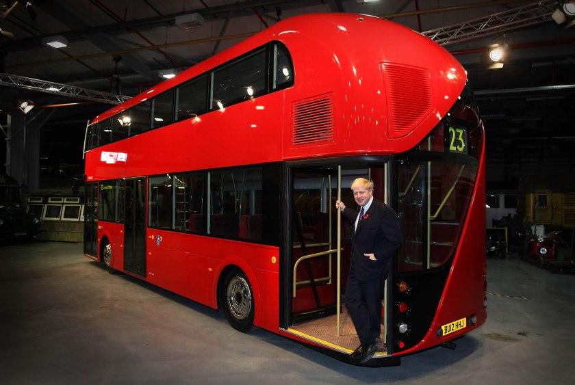 11 November 2010. Then Mayor, Boris Johnson, with the New Routemaster Mock-Up.