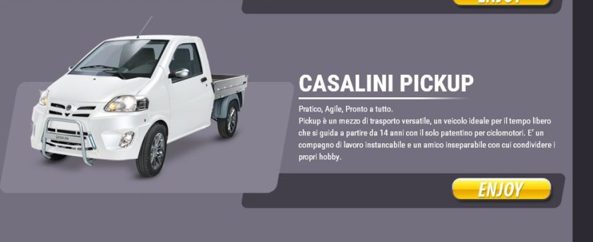2016 Cassalini pick up