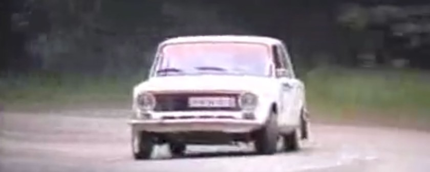 Actually it was a Fiat 124, not a Lada ... but you get the drift - image : YouTube / Simas Ramonas