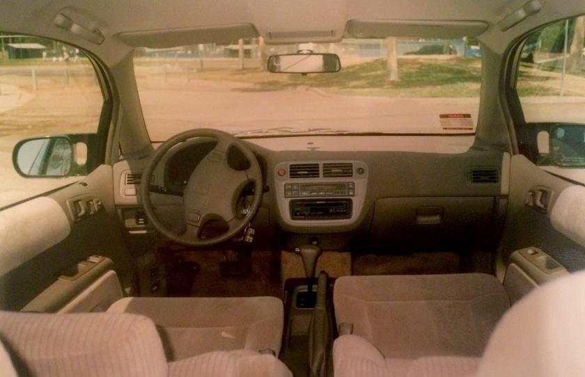 1997 Honda EV-Plus interior.