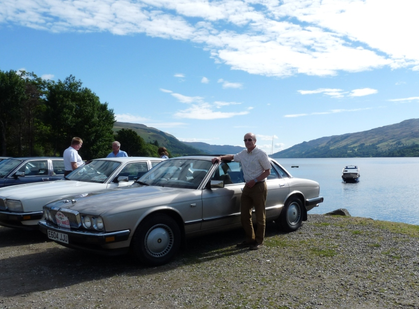 Jonathan Partridge with the Heritage collection's 1988 car at the recent Dunkeld commemorative event. Image: Jonathan Partridge