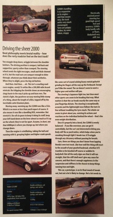 1999 Honda S2000 review: Car Magazine